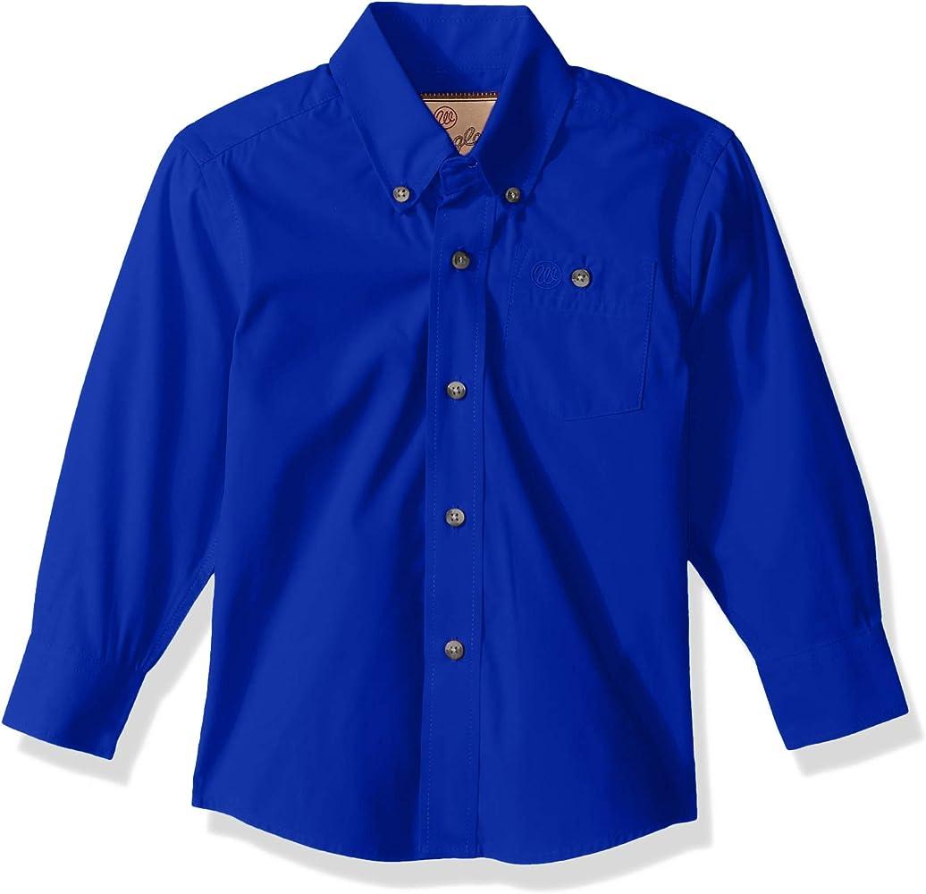 Wrangler Boys Classic One Pocket Long Sleeve Button Shirt, Royal Blue, M: Amazon.es: Ropa y accesorios