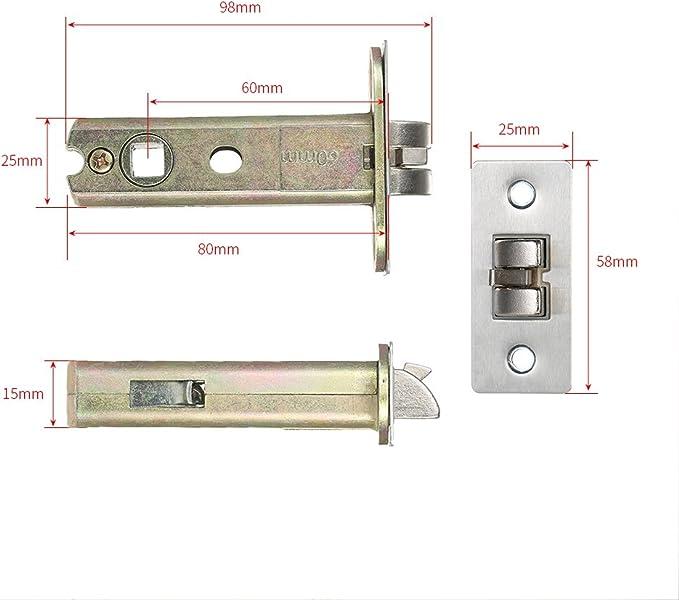 Decdeal 4 en 1 Cerradura Electrónica Táctil de Contraseñas, ID Trajeta, Remoto Control, Llave (Color Plata): Amazon.es: Hogar