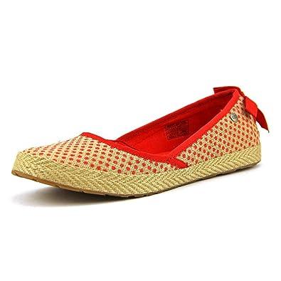 Ugg Australia Women's Fabric Indah Women's Flat Pump Shoes Burlap Red ...