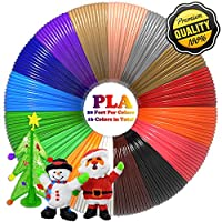 3D Pen Filament Refills PLA 16 Colors 20 Feet 1.75mm with 200 Stencils eBook Total 320 Feet 3D Art Pen Filament for TIPEYE, Canbor, MYNT3D, DigiHero, Soyan, Dikale, Vcall,Zerofire 3D Printing Pen