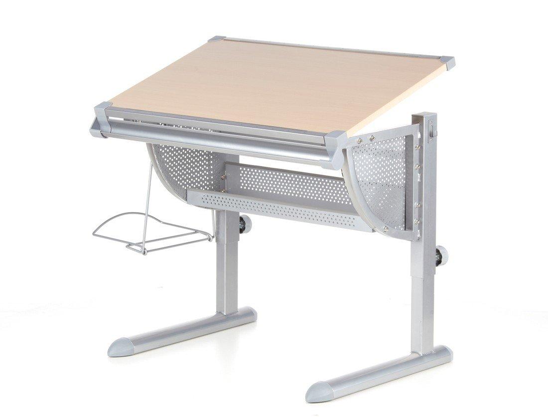 Regolabile in Altezza Stoccaggio per La Cartella hjh OFFICE 705100 Scrivania per Bambini BELIA Bianca,Tavola Inclinabile per Lavoro ergonomico