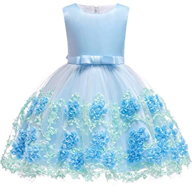 165789ae1f12c Berngi Baby Kids Birthday Princess Party Dress for Toddler Girls Flower  Children Bridesmaid Elegant Dresses Clothes