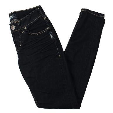 b4ec30d1 Silver Jeans Co. Women's Aiko Mid Rise Super Skinny Jeans, Rinse Fluid Soft  Denim