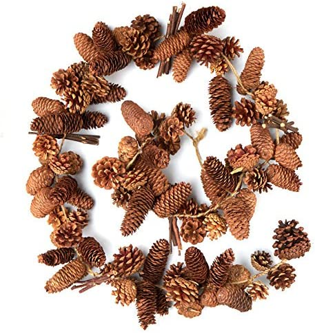 Factory Direct Craft Set of 2 Artificial Pinecone Candle Rings