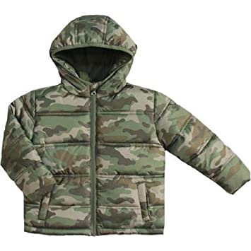 669bc3ff2 Amazon.com: Baby Boys Puffer Jacket Toddler (Camo Green, 24 months ...