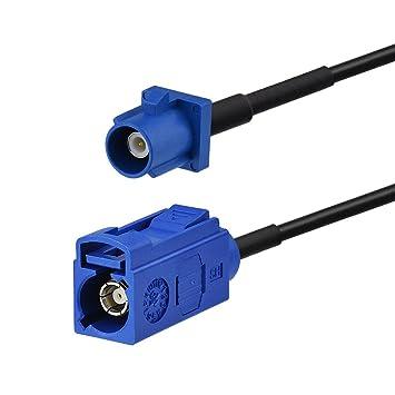 Eightwood Adaptador de Antena GPS Fakra C Hembra a Fakra Macho Pigtail Cable RG174 6 pies