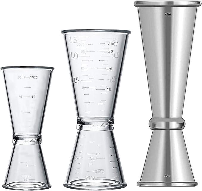 Transparent Drink Measurement tools Cocktail Measure Cup Bar Accessor.hc