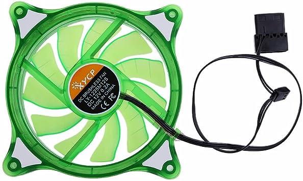 Asiright - Ventilador de refrigeración LED para Ordenador, 12 cm ...