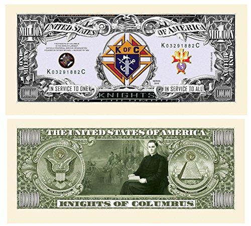 Set of 5 - Knights Of Columbus Million Dollar Bill