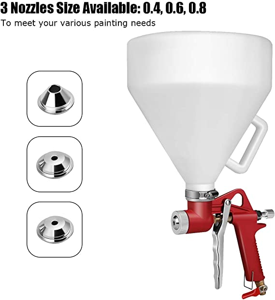 3000ML Hopper Spray Gun Paint Texture Tool Drywall Wall Painting Sprayer