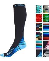 Compression Socks for Men & Women - BEST Graduated Athletic Fit for Running, Nurses, Shin Splints, Flight Travel, & Maternity Pregnancy - Boost Stamina, Circulation & Recovery