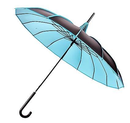 outgeek Pagoda paraguas UV Protección Sombrilla Paraguas Con Mango Largo gancho