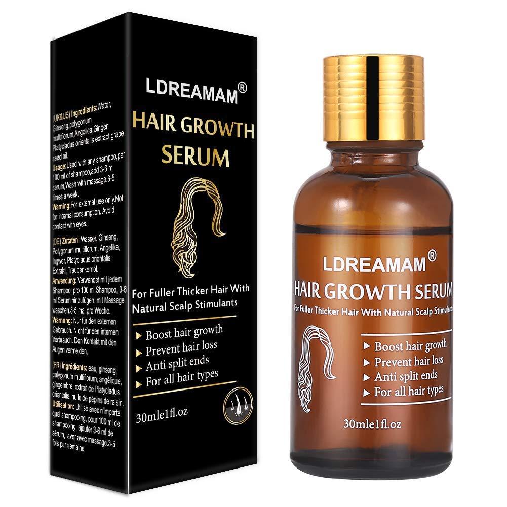 Amazon.com : Hair Growth Serum, Hair Treatment Serum Oil, Hair Serum, Hair Growth Treatment, Hair Regrowth of Thinning Hair - Promotes Hair Growth, ...