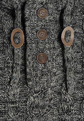 Coton 100 Black Capuche 9000 Pull Maille Pull Pour Solid over En Homme Tricot À Grosse Pierre WwFAWxOq6B