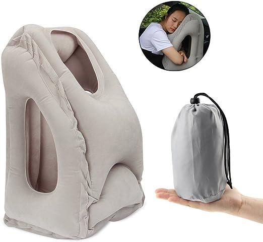 Amazon.com: Almohada hinchable de viaje, almohada de avión ...