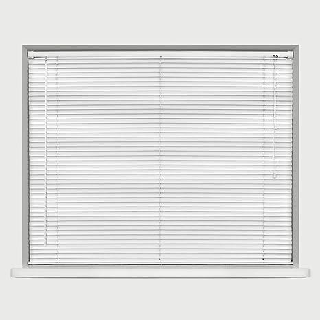 PVC VENETIAN BLIND WHITE White, 45cm width  x. 152cm drop