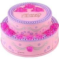INTVN Scatola Musicale Portagioie, Musical Jewelry Box Carillon Scatola Musicale Scatola Regalo Piccola Custodia Gioielli per Ragazze Regalo di Compleanno, Rosa