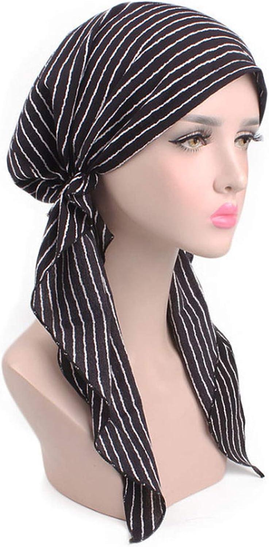 Wension 2019 Womens Printed Sleep Cap Chemotherapy Turban Cap Hair Cap