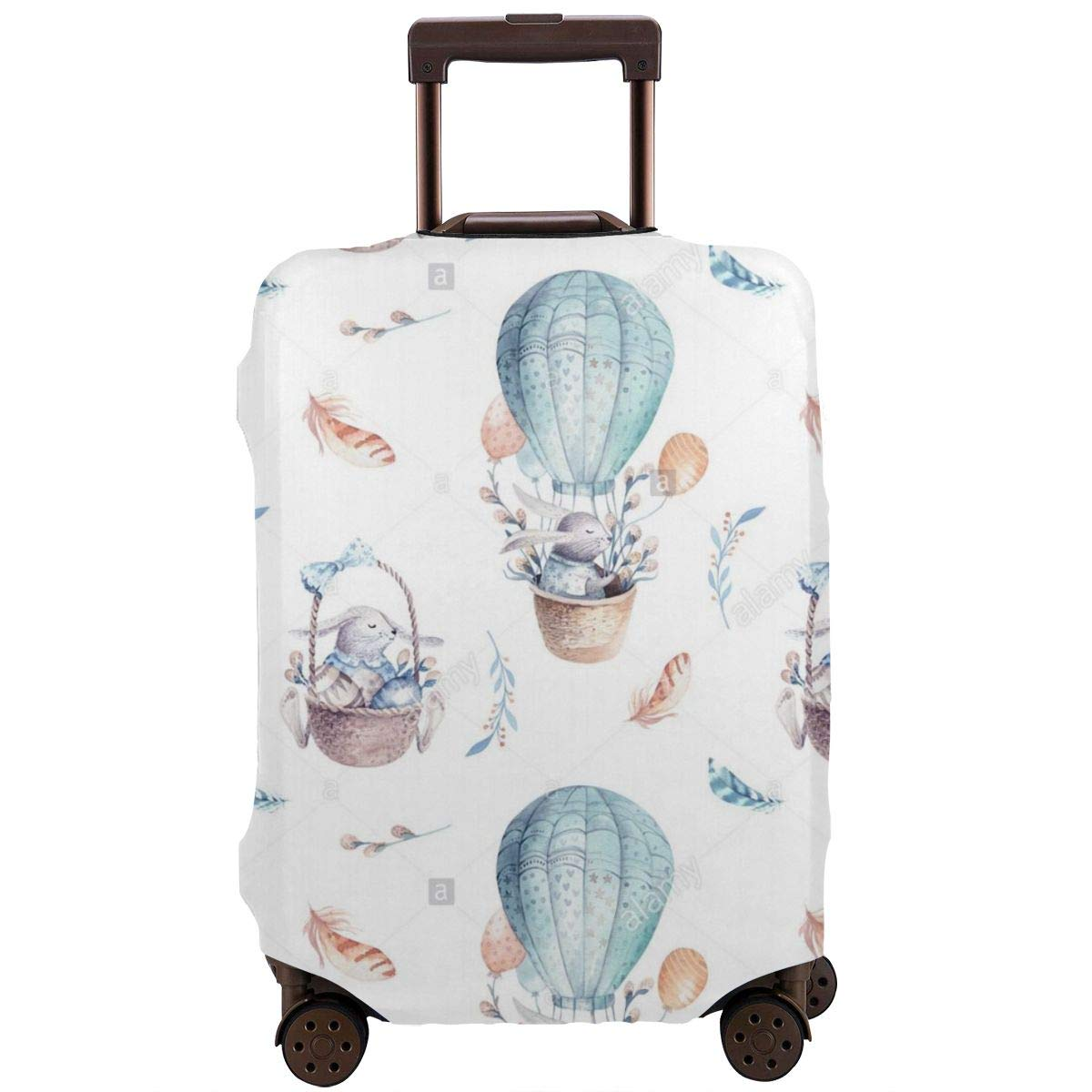 JHNDKJS Cute Baby Rabbit Animal Travel Luggage Cover Baggage Suitcase Protector Fit for 12-18 Inch Luggage