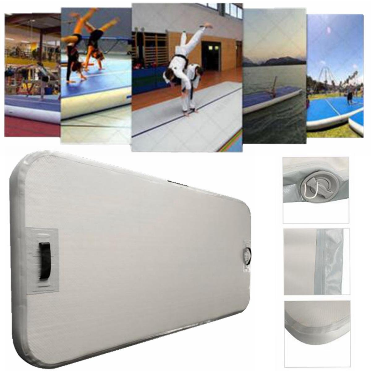 Winnerbe 78.74x35.43x3.94inch GYM Air Track Floor Home Gymnastics Inflatable Tumbling Mat with Electric Pump