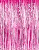 Jocon SF8107 Metallic Foil Fringe Curtain for Wedding Prom Birthday Party Wall Decoration Background (2 Packs, Pink)