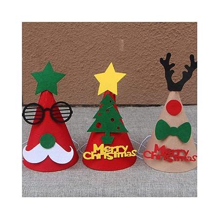 TKHCOLDM Navidad Sombrero de Navidad, decoración navideña ...