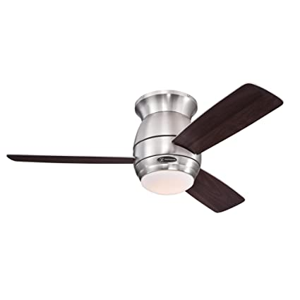Westinghouse 7217900 halley 44 inch brushed nickel indoor ceiling westinghouse 7217900 halley 44 inch brushed nickel indoor ceiling fan led light kit with aloadofball Gallery