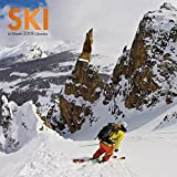 Ski 2019 12 x 12 Inch Monthly Square Wall Calendar by Wyman, Winter Snow Sport