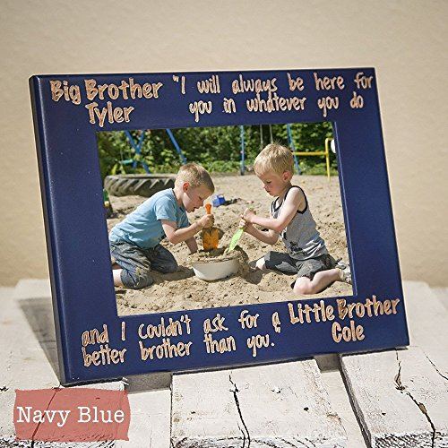 Siblings Picture Frame-Personalized Brother Or Sister Gift- Big Brother Frame-Sibling Gift-Big Brother, Little Brother-Wood Engraved-Big Brother, Little Sister