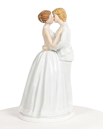 Amazon Com Funny Lesbian Wedding Cake Topper Female Couple