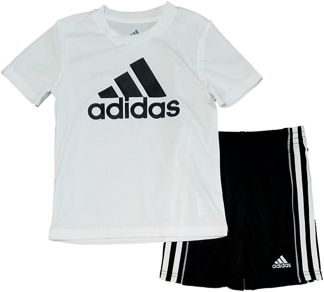 84a852a6a2c72 Toddler Boys 2pc Short Sleeve Athletic T Shirt and Shorts Set
