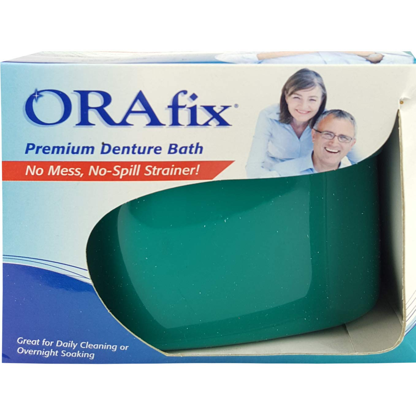 (Pack of 24) OraFix Denture Bath Complete Care, No Mess, No Spill Strainer by Orafix (Image #1)