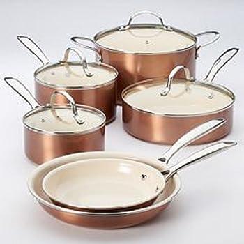 Food Network 10-Piece Nonstick Ceramic Cookware Set