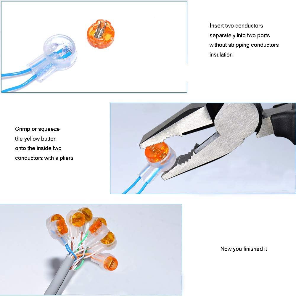 SaferCCTV Crimp B Wire Gel Filled Connectors Premium Insulation Waterproof B Connector-200pcs