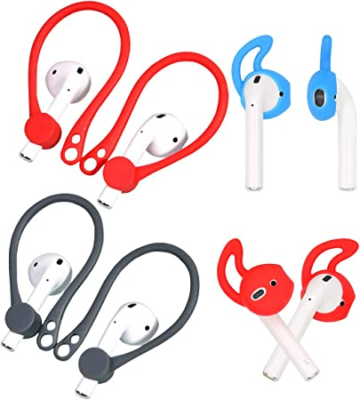 Replacement Silicone Earhook /& Ear Tips Black//White Rayker Earhook for Airpod 2+2 Pairs Design for Airpod Outdoors