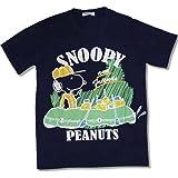 PEANUTS (ピーナッツ) スヌーピー アメカジ 吸汗速乾 救助隊 柄 プリント 半袖 Tシャツ メンズ