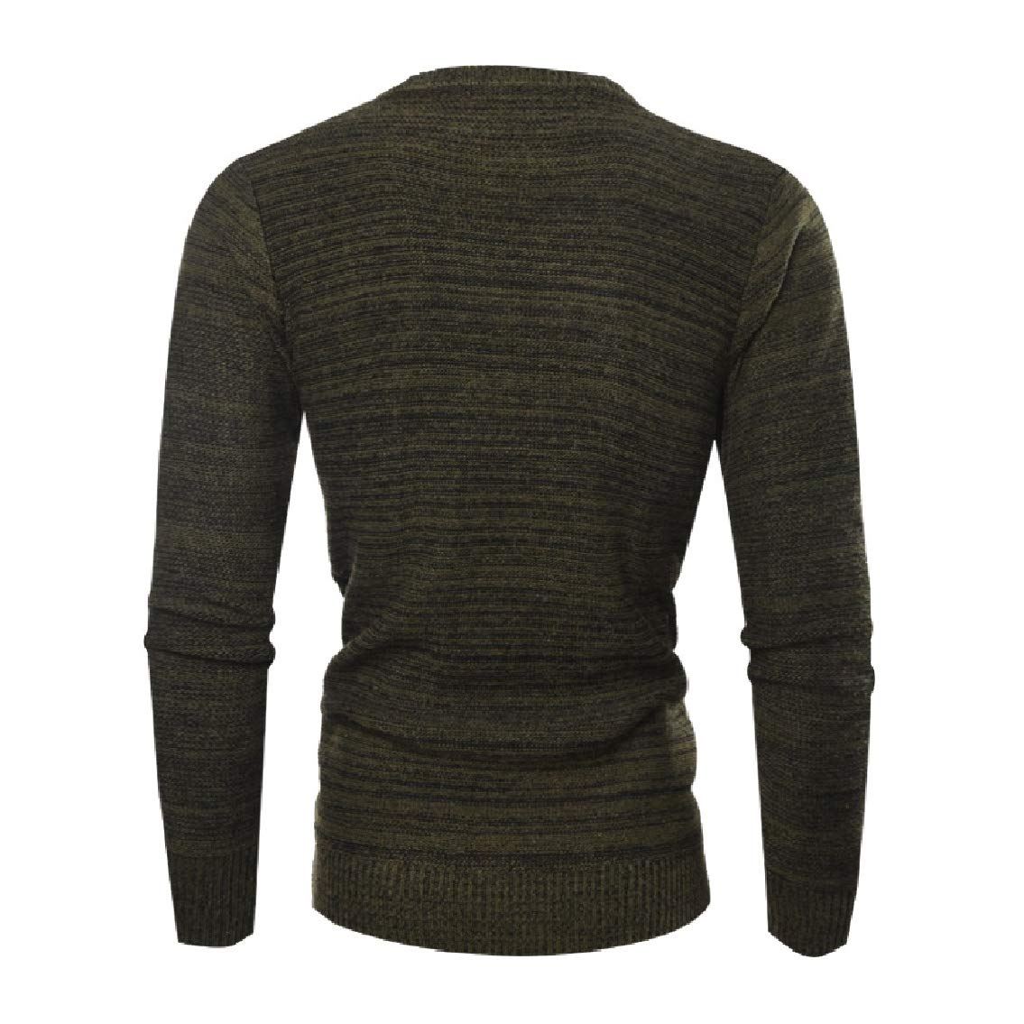Freely Mens Crewneck Pullover Simple Jacquard Knit Autumn Winter Sweaters