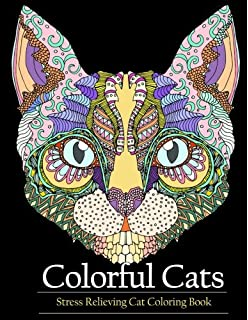 Adult Coloring Book Colorful Cats Stress Relieving Cat Books To Help You Relax And