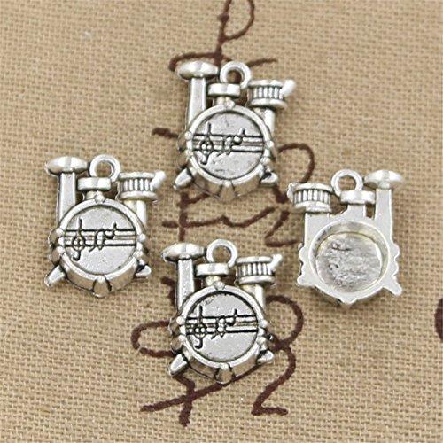 20pcs Charms Stopwatch Watch Drum Set 16x14x4mm Antique Making Vintage Tibetan Silver Zinc Alloy Pendant