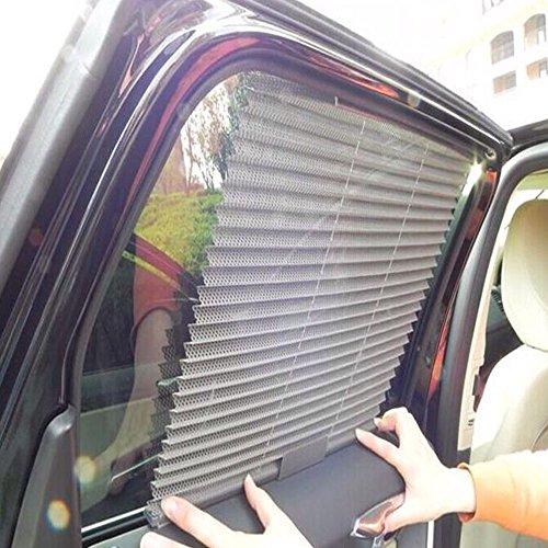 Car cortina, asdomo Car plisado cortina ventana lateral auto Sun Shade Cortina Shield Malla Sun Bloque Nuevo (3colores al...