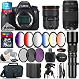 Canon EOS 6D DSLR Camera + Canon EF 24-70mm 2.8L II USM Lens + Canon 75-300mm Lens + 500mm Telephoto Lens + 6PC Graduated Color Filer Set + 2yr Extended Warranty + Canon Bag - International Version
