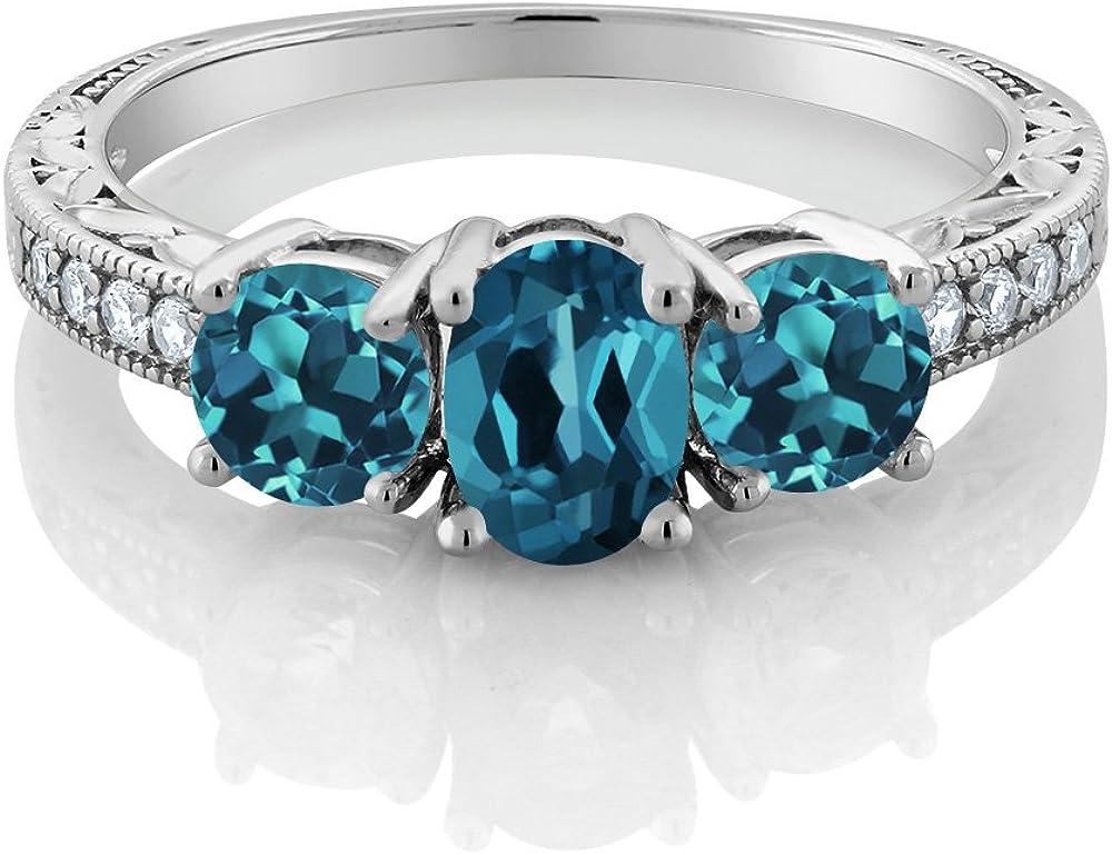 Lex /& Lu Sterling Silver w//Rhodium w//Garnet,Blue Topaz Citrine Pendant