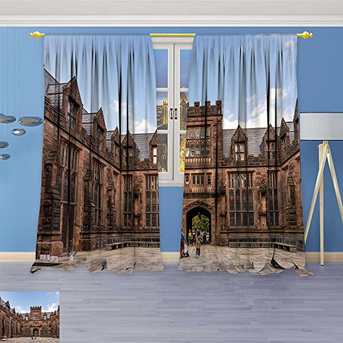 (SOCOMIMI Thermal Insulated Grommet Unlined Window Curtains east pyne hat princeton university photograph shot on september Set of Two Panels 120W x 108L Inch)