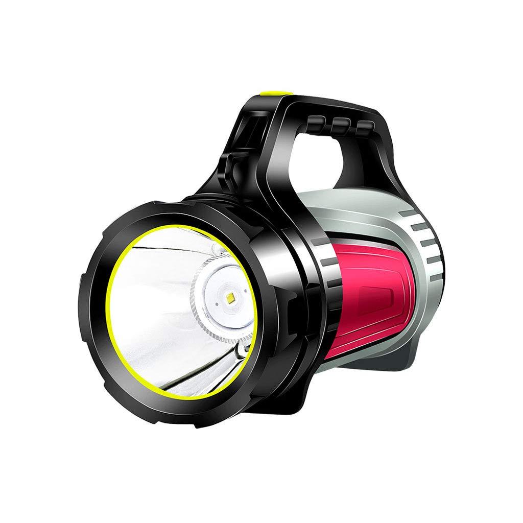 Starkes Licht-Taschenlampen-wieder aufladbares super helles wasserdichtes Licht Multifunktionskräfte Jagd und suchende tragbare Lampe Portable Searchlights. (Farbe : ROT)