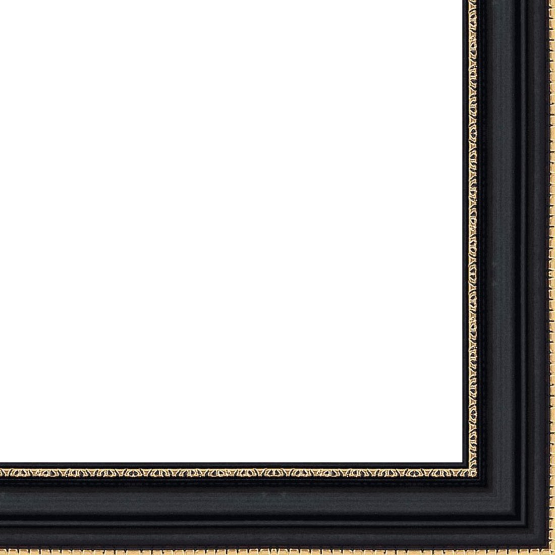 Picture Frame Moulding (Wood) 18ft bundle - Contemporary Black Finish - 0.875'' width - 3/8'' rabbet depth