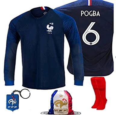 LISIMKE France Home Soccer Team Pogba  6 Kid Youth Replica Jersey Kit    Jersey   41c8b03e3