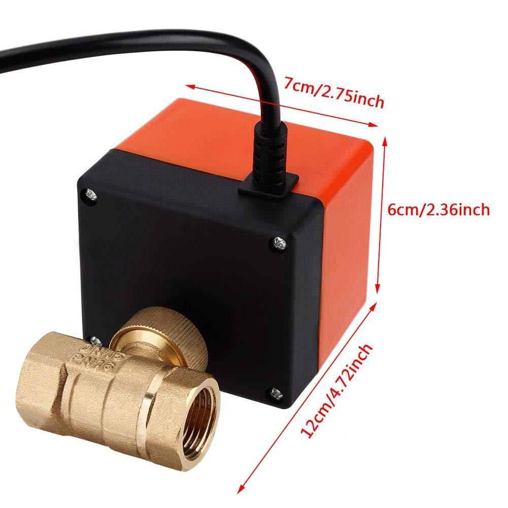 Valvula esfera bola electricos DN15 DN25 DN15 AC 220V 1.6 Mpa V/álvula motorizada el/éctricos de lat/ón de 2 v/ías
