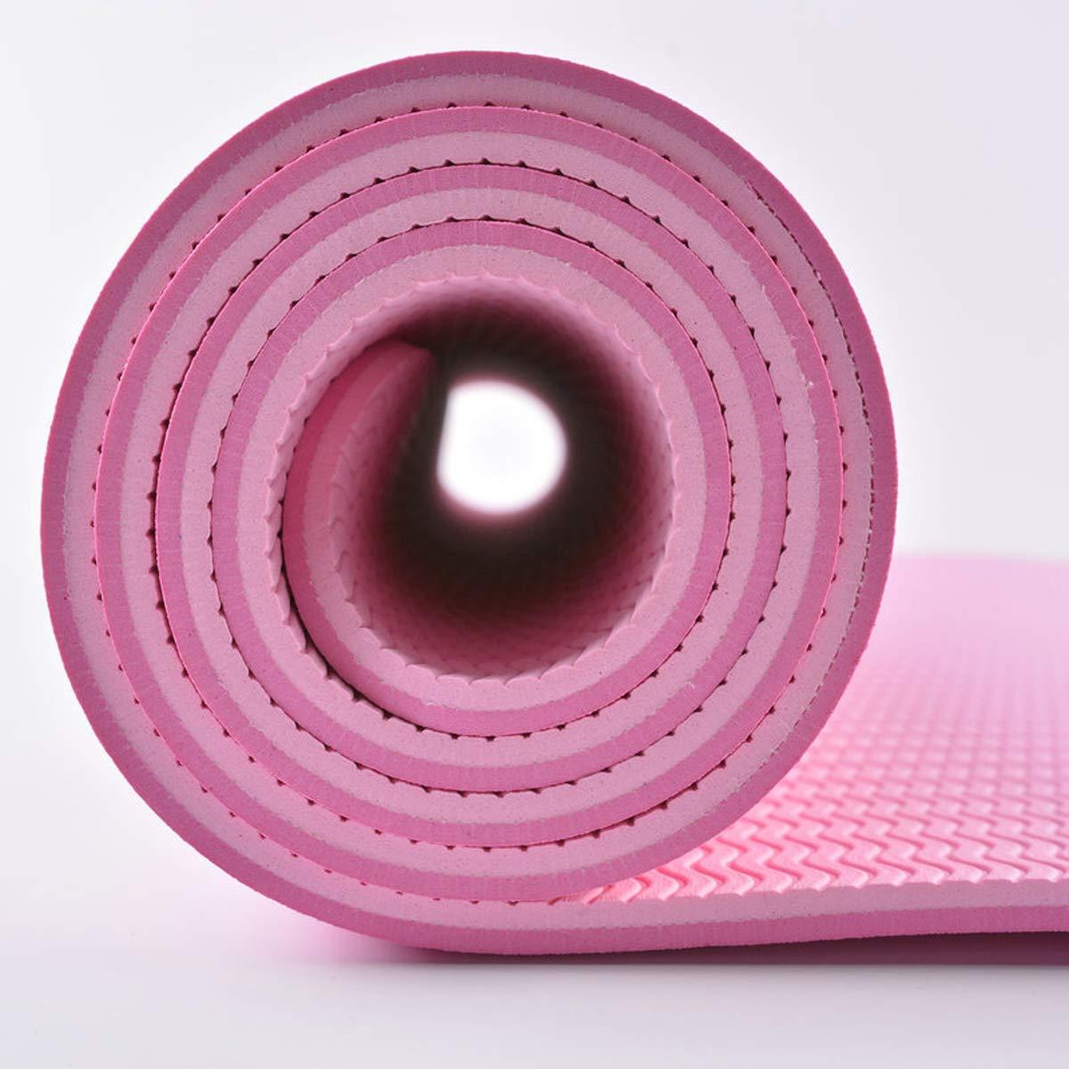 GAOFL Tappetino per Yoga in Tinta Unita con Tappetino Yoga 6mm Mat