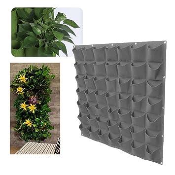 Amazon Com Aolvo 25 36 49 Pocket Wall Planter Vertical Garden Wall