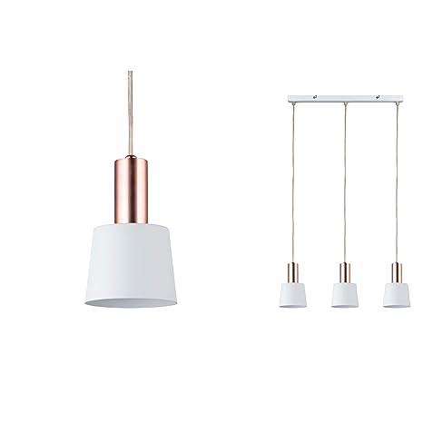 Lámpara de techo Paulmann 79657 Neordic Haldar max.3x20W E14 Blanco / mate 230V metal de cobre